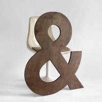 Ampersand Letter Wood Wall Hanging Baby Name Nursery by Hindsvik