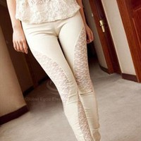 Cotton Laced Leggings from cjharbin