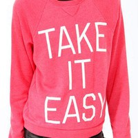 Take It Easy Fleece Pullover