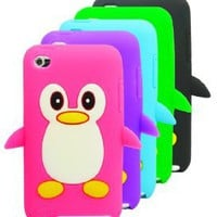 Amazon.com: The Friendly Swede (TM) 5 x Penguin Silicone Cases Skins Covers for Apple iPod Touch 4 / 4G / 4th Gen - Microfiber Cloth and Retail Packaging: MP3 Players & Accessories