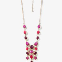 Multicolored Bejeweled Bib Necklace