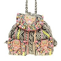 ASOS Oversized Tex Mex Skull Backpack