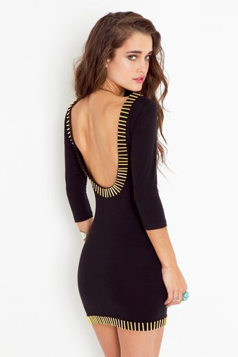 Gold Rush Dress - Black in  Clothes Dresses at Nasty Gal