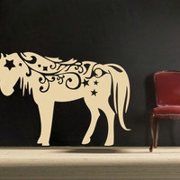 magical Unicorn vinyl Wall DECAL Animal interior by EyvalDecal