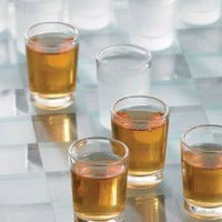 Crystal Clear Shot Glass Checkers Bar Game Set