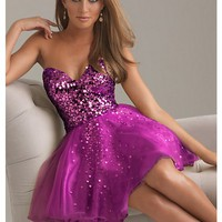 Fantastic A-line Sweetheart Mini Prom Dress with Sequins