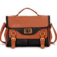 34*25*13cm Fashion Black PU Satchel Handbag -  Milanoo.com