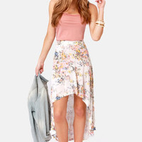 Billabong Wild Roadz Floral Print High-Low Skirt