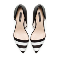 BLACK AND WHITE COMBINATION HEELS - Shoes - Woman - ZARA United States