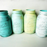 Beach Home Decor  Painted and Distressed Shabby Chic by BeachBlues