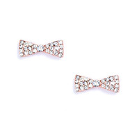 ROSE TINY BOW STUDS | Jeweliq
