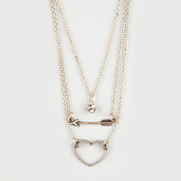 FULL TILT 3 Row Fireball/Arrowhead/Heart Necklace