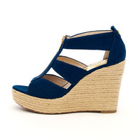 MICHAEL Michael Kors  Damita Canvas Wedge - Michael Kors