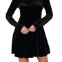 Amazon.com: G2 Chic Sexy Solid Velvet Flared Dress: Clothing