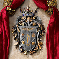 Count Dracula's Coat of Arms Wall Plaque - CL6100 - Design Toscano