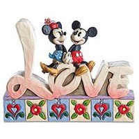 ''Love'' Minnie Mouse and Mickey Mouse Figurine by Jim Shore | Disney Store