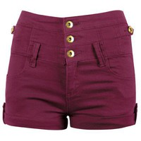 HIGH WAIST DENIM SHORT - Ally Fashion