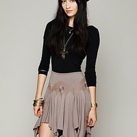 Free People Cathedral Window Mini Skirt