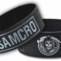 ROCKWORLDEAST - Sons Of Anarchy, Rubber Wristbands, Samcro