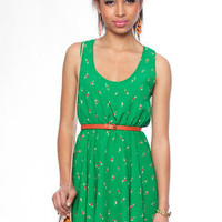 Dandelion Dress in Green :: tobi