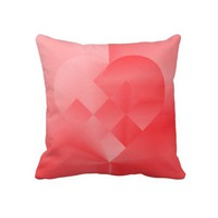 Danish Valentine Heart 71 - Pillow from Zazzle.com