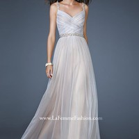 La Femme 17324 White Evening Gown