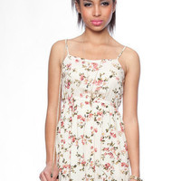 Late Bloomer Tank Dress in Beige :: tobi