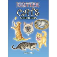 Glitter Cats Stickers (Dover Little Activity Books Stickers) [Paperback]