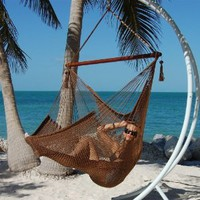 Amazon.com: Caribbean Jumbo Hammock Chair - Mocha: Patio, Lawn & Garden