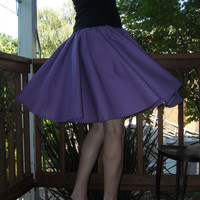 Purple Circle Skirt Custom Made Any Size Womens skirt Cotton Full Skirt