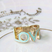 Love Ring in Mint, Sweet Bohemian Jewelry