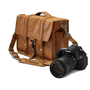 "14"" Camera Bag - Serengeti - Manhattan Style - Full Grain Leather - Padded Camera Insert - Made in the U.S.A."