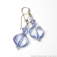 SWEET VIOLETS Swarovski Crystal Earrings by whimsydaisydesigns