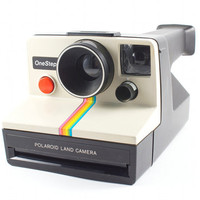 Vintage Polaroid Camera One Step Retro Hipster Rainbow Instant Photo SX-70 Film