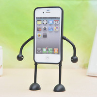 Appitoz Flexible Toy Robot Rubber Arms Legs Case for Iphone 4/4s/5
