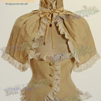 Elegant Gothic Aristocrat & Steampunk: Pleated Cape&Waistcoat Vest Set*3color Instant Shipping