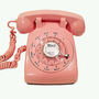 WORKING  Pink Rotary Phone Telephone  1966 by TheRotaryShoppe