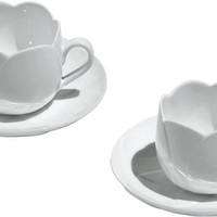 Tea and coffee accessories / Breakfast - Tulip, Set Of Two Teacups With Saucers Alessi