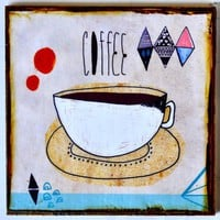 Coffee and Cigarettes- set of 2 coasters