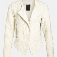 Go Make Noise Textured Drape Front Jacket | Nordstrom