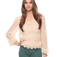 Tiered Lace Front Top | FOREVER21 - 2000025884