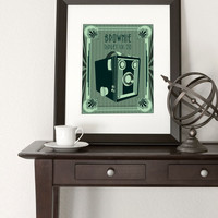 Brownie Camera  11x14 Print by noodlehug on Etsy