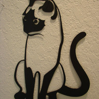 Kitty Cat Metal Art Wall Hanging
