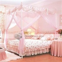 Household Bowknots 4 Poster Bed Canopy & Bed Poster One Set - US DinoDirect.com