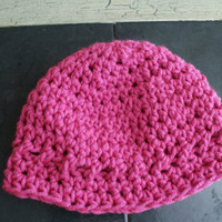 Pink baby girl hat, Crochet Baby Cloche, Baby Sock Cap, Pink Infant Beanie, Baby Spring Easter Hat, Snow Hat, Crochet Cloche, Toddler Cap