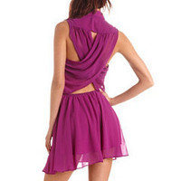 Lace Inset Crisscross Back A-Line Dress: Charlotte Russe