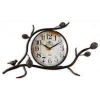 Uttermost Bird On A Limb Clock in Aged Black - 06665
