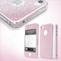 Pink Shinning Sparkling Sticker for iPhone 4/4s