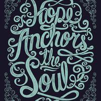 Hope Anchors The Soul Art Print | Print Shop