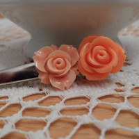 orange flower hair clip,baby tolder hair clip,